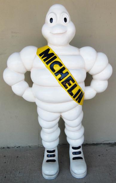 """Michelin Man Fiberglass Statue 37"""" Tall"""