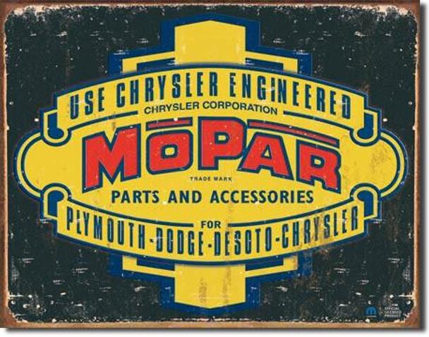 Mopar Logo '37-'47 Metal sign