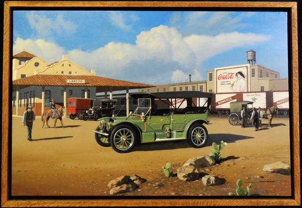 1911 Rambler Brass Era Motor Car Original Oil Painting
