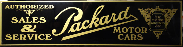 """Packard Sales & Service Advertisement 46"""" by 12"""""""