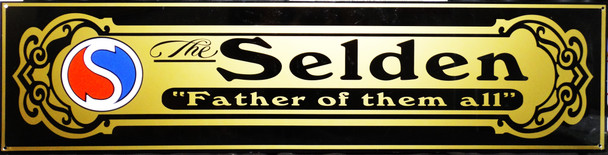 "Selden Motor Car Advertisement 46"" by 12"""