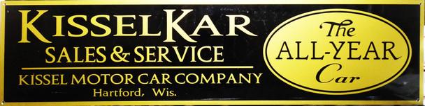 "Kissler Kar Motor Car Advertisement 46"" by 12"""