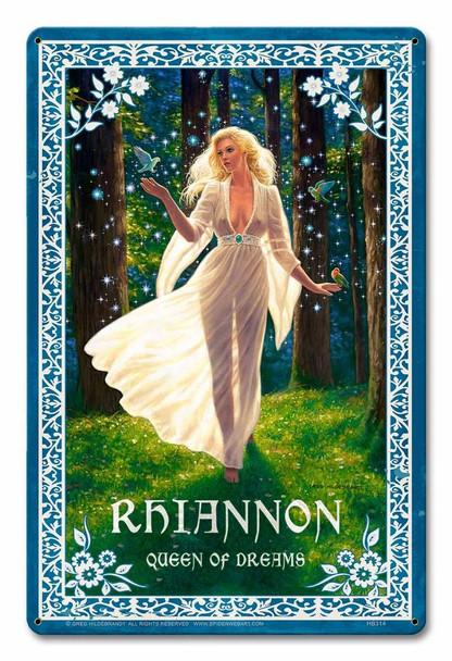 Rhiannon Goddess By Greg Hildebrandt Metal Sign
