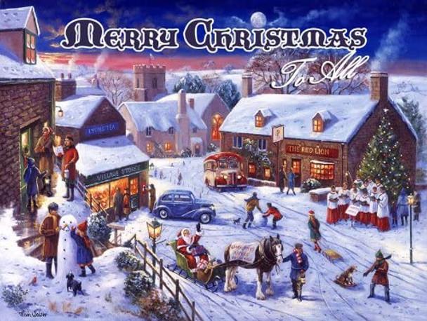 Merry Christmas Postcard Metal Sign