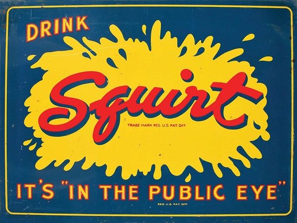 Drink Squirt Soda Vintage Styled Advertisement Metal Sign