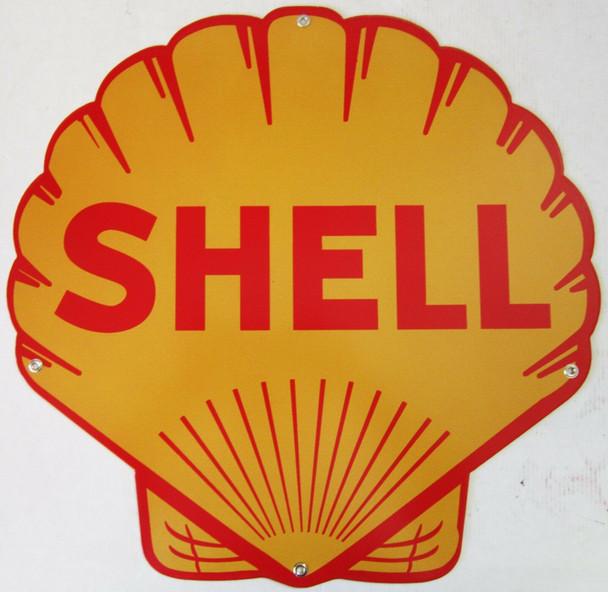 Shell Clamshell Metal Sign ( Plasma-Cut )