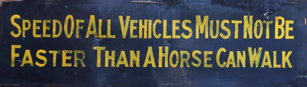 Speed of all Vehicles Metal Sign Marty Mummert