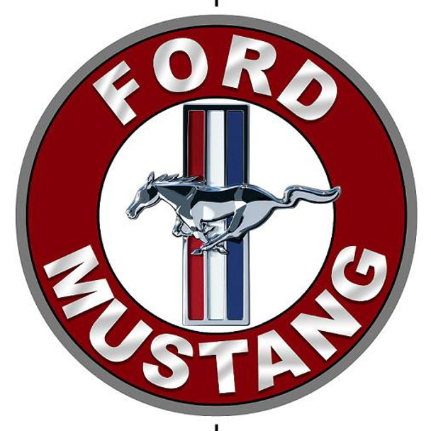 """Ford Mustang (round 12"""" metal sign)"""