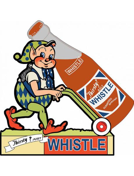 Whistle Soda Elf Plasma Cut Metal Sign
