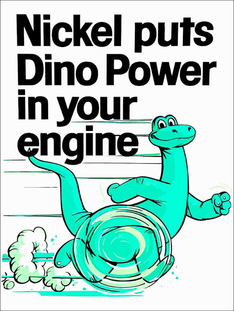 Sinclair Nickel puts Dino Power in Your Engine Metal Sign