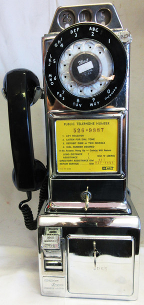 Northern Electric Chrome Pay Telephone 1950's Fully Restored