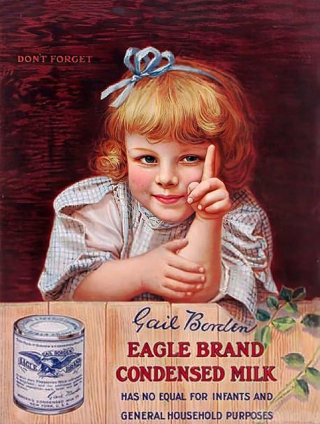 Eagle Brand Condensed Milk Vintage Advertisement Metal Sign