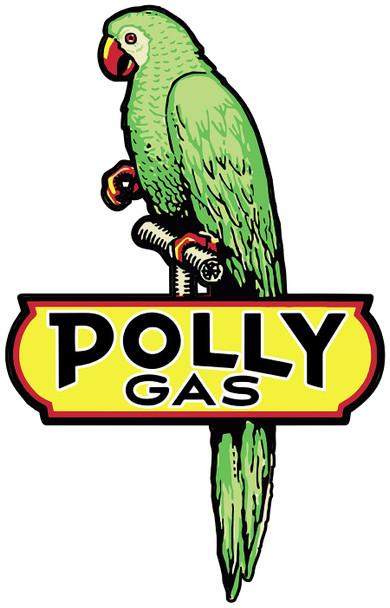 Polly Gas Parrot Plasma Cut Metal Sign