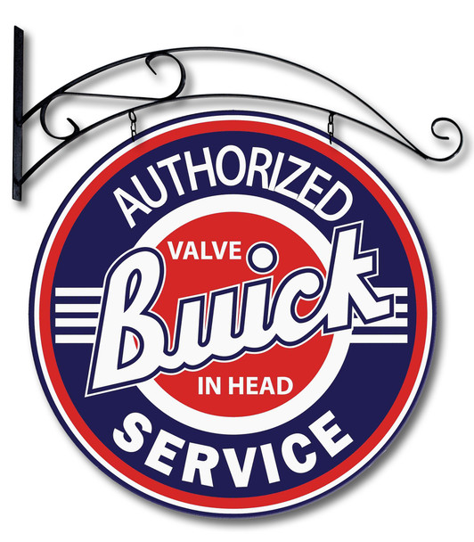 """Authorized Buick Service 24"""" Double Sided Metal Sign with Hanger"""