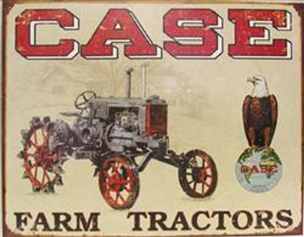 Case Farm Tractor Metal Sign