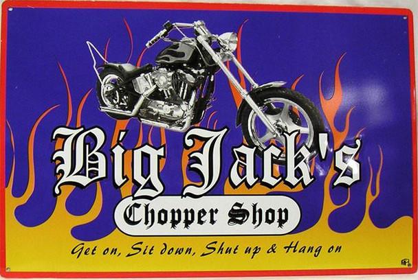 Big Jack's Chopper Shop Metal Sign