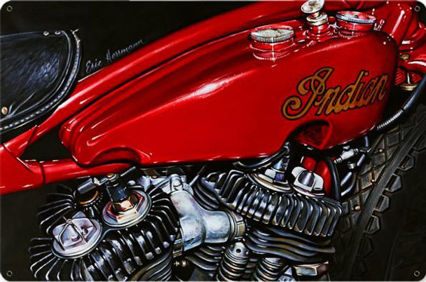 Red Indian Motorcycle by Eric Herrman