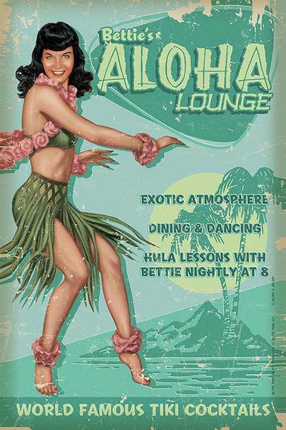 Aloha Bettie Metal Sign DISC
