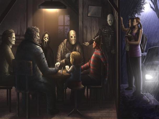 Horror Playing Poker