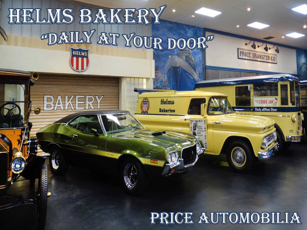 """Helms Bakery """"Daily at Your Door"""" Metal Sign"""