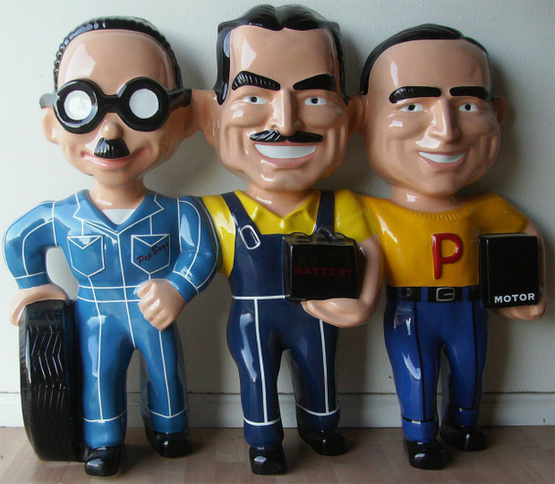 """Manny Moe and Jack The Pep Boys 50"""" wide"""