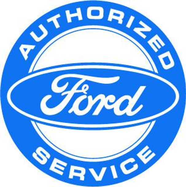 """Ford Authorized Service 12"""" Round Metal Disk"""