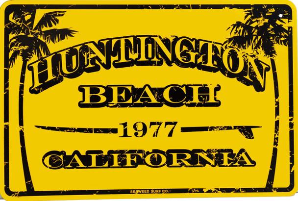 Huntington Beach California  Est. 1977 Metal Sign