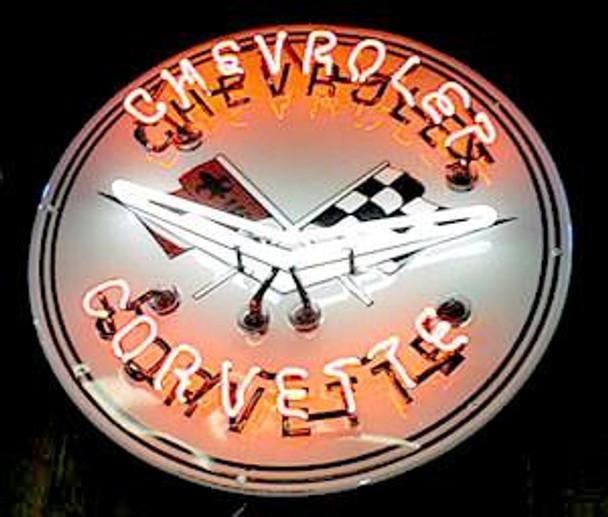Chevrolet Corvette Advertising Neon