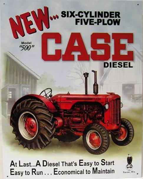 Case Diesel Model 500 (DISC) Metal Sign
