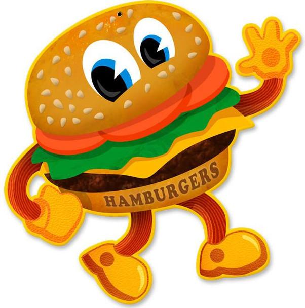 Hamburger Plasma Cut Metal Sign