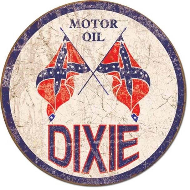 Dixie Motor Oil Rustic Round
