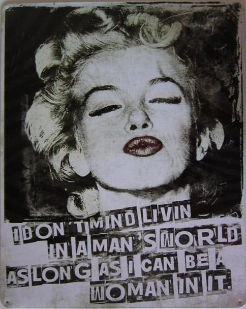 Marilyn Monroe-Man's World Metal Sign