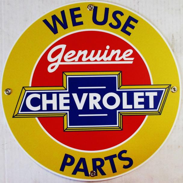 "Chevrolet Genuine Parts 12"" Round Metal Disc"