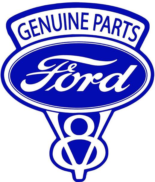 Genuine Parts Ford V8 Metal Sign