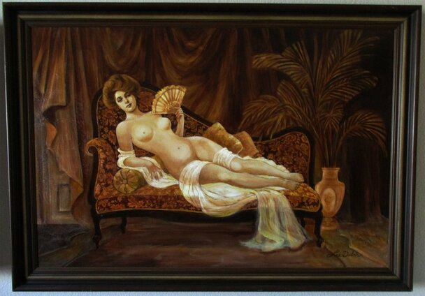 Evelyn Nesbit brown sepia Original Painting