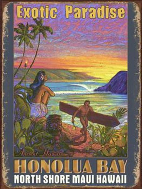 Honolua Bay Metal Sign