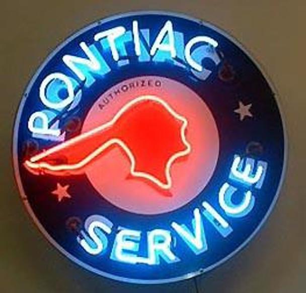 Pontiac Service Advertising Neon