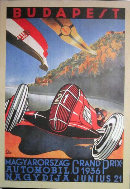 Vintage Automobilia Budapest Racing Canvas Image