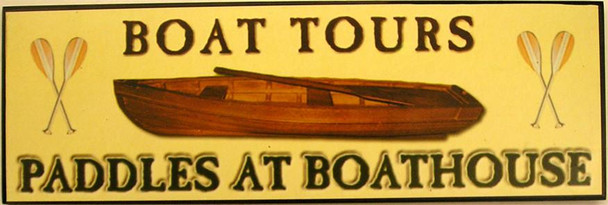 Boat Tours Paddles at Boathouse
