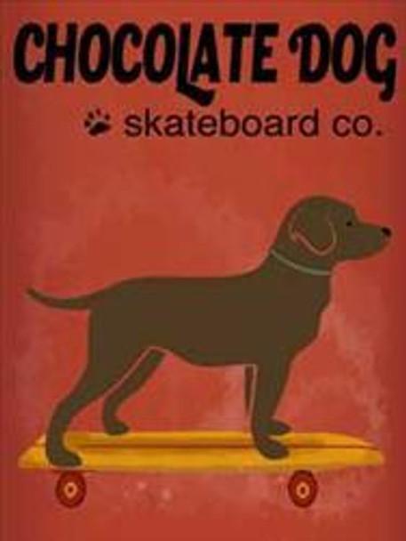 Chocolate Dog Skateboard Co Metal Sign