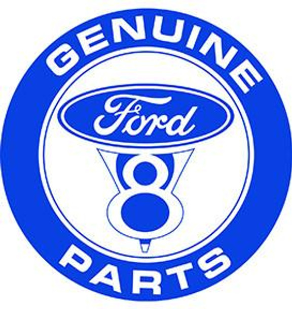 """Ford V8 Parts 12"""" Rond Metal Sign"""
