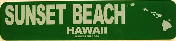 Sunset Beach Aluminum Sign