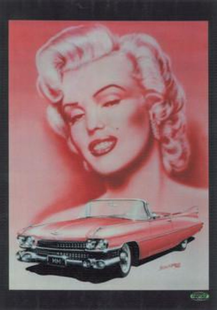 Marilyn Monroe with Cadillac Metal Sign
