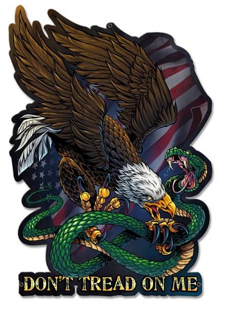 Don't Tread On Me Eagle Snake Plasma Cut Metal Sign