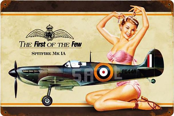 Spitfire MK IA Pin Up Metal Sign