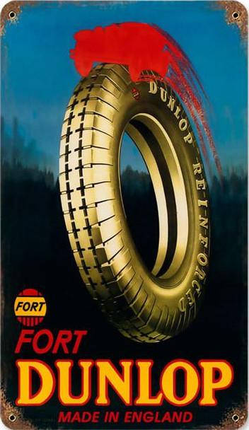 Dunlap Fort Tires Metal Sign