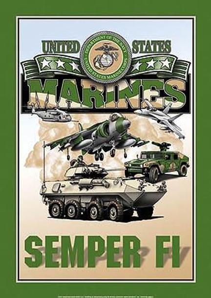 United States Marines-Semper Fi Metal Sign