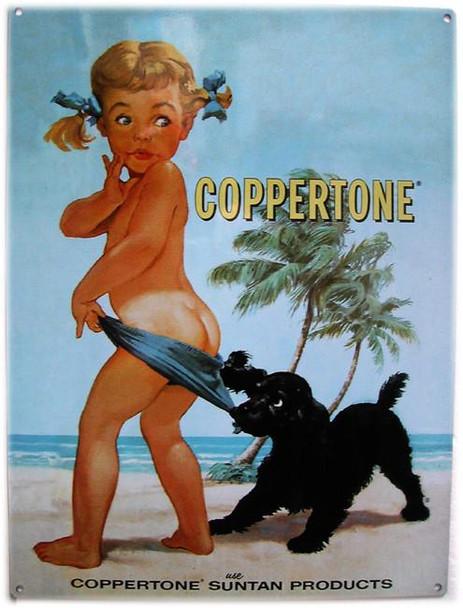 Coppertone Girl Metal Sign