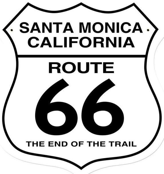 Santa Monica California Route 66 End of the Trail Shield