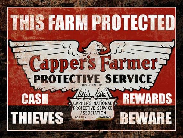 Capper's Farm Protective Service Metal Signs